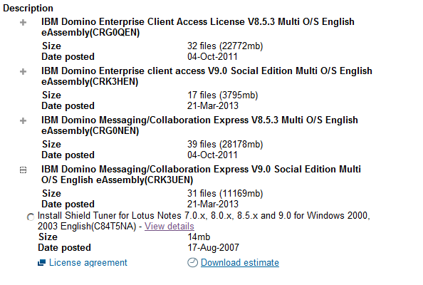 IBM Notes 9.0 Not Available